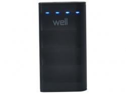Acumulator USB portabil powerbank 4000mAh 1A negru Well ; Cod EAN: 5948636029819