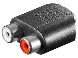 Adaptor audio 2 x RCA mama la 3.5mm Jack stereo mama AA206-BU