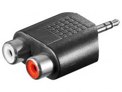 Adaptor audio 3,5mm Jack stereo tata la 2 x RCA mama AA178-BU