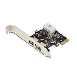 Adaptor Digitus DS-30220-4, PCI-E - USB 3.0, Low Profile Bracket