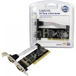 Adaptor Logilink PC0016 PCI - Serial, 2 porturi