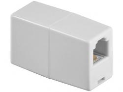 Adaptor modular 6P4C RJ11 mama la RJ11 mama, alb F-F-WE-BU