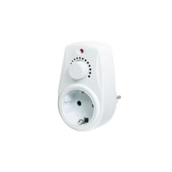 Adaptor priza Logilink, 1x Socket, White