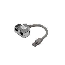 Adaptor retea Digitus DN-93904, 2x RJ45 - 1x RJ45, 0.19m