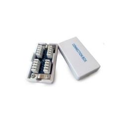 Adaptor retea Gembird, RJ45 - RJ45, FTP, Cat.5E, Silver