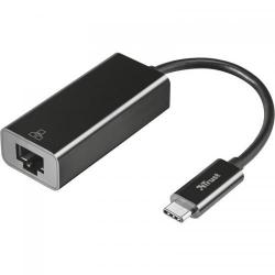 Adaptor retea Trust 21491, USB-C-RJ45, Black