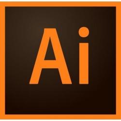 Adobe Illustrator CC for teams, MultiPlatform, English, Level 1-9, Base, 1 user/1 Year