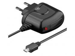 Alimentator USB 230V cu cablu microUSB 1.2A negru Goobay; Cod EAN: 4040849456664