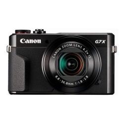 Aparat foto compact Canon PowerShot G7 X Mark II, 20.1MP, Black + Husa DCC-1880 + Memory card SD 8GB
