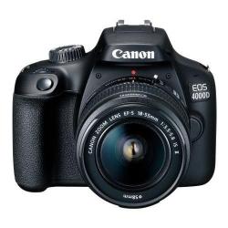 Aparat foto DSLR Canon EOS 4000D, 18MP, Black + Obiectiv EF-S 18-55 IS STM