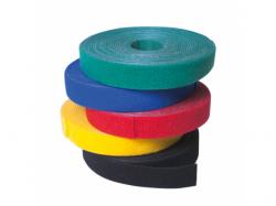Banda organizatoare pentru cabluri Logilink, Velcro Tape, 4m, Yellow