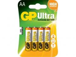 Baterie alcalina R6 (AA) 4 buc/blister Ultra GP; Cod EAN: 4891199027598 - pret pe bucata