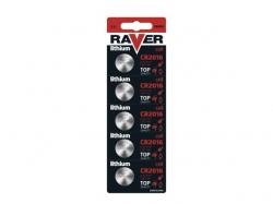 Baterie buton litiu CR2016 3V Raver BAT-CR2016-BL5-RV