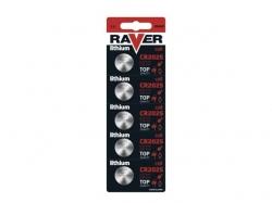 Baterie buton litiu CR2025 3V Raver BAT-CR2025-BL5-RV