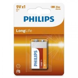 Baterie Philips Longlife, 1x 9V, Blister