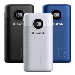 Baterie portabila A-Data P10000QCD, 10000mAh, 2 x USB, 1 x USB-C, White