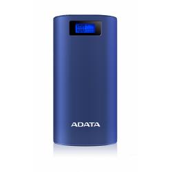Baterie Portabila A-Data P20000D, 20000mAh, 2x USB, Dark Blue