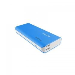 Baterie portabila ADATA PT100, 10000mAh, 2x USB, Blue-White