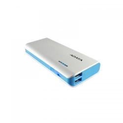 Baterie portabila ADATA PT100, 10000mAh, 2x USB, White-Blue