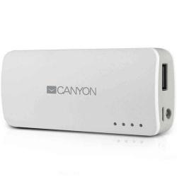 Baterie portabila Canyon CNE-CPB44, 4400 mAh, 1x USB,  White