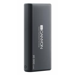 Baterie portabila Canyon CNS-CPBP20B, 20000mAh, 2x USB, Black