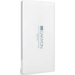 Baterie Portabila Canyon TPBP10W, 10000mAh, 1x USB, 1x Lightning, 1x microUSB, White