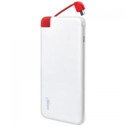 Baterie portabila Hame T5, 4000mAh, 1x USB, White-Red