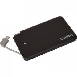 Baterie portabila Sandberg Excellence 2500mAh, 1x MicroUSB, Black