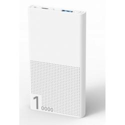 Baterie portabila Serioux SRXPB-A10KQC-W, 10.000mAh, 1x USB, 1x USB-C, White