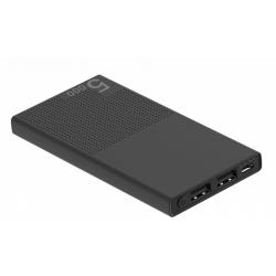 Baterie portabila Serioux SRXPB-A5K-B, 5.000mAh, 2x USB, Black
