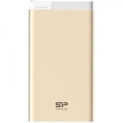 Baterie portabila Silicon Power S55, 5000mAh, 1x USB, 1x Lightning, Gold