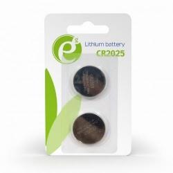 Baterii Gembird Button Cell CR2025, 2x 3V, Blister