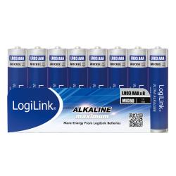 Baterii LogiLink Ultra Power Alkaline, 8x AAA/LR03, Foil