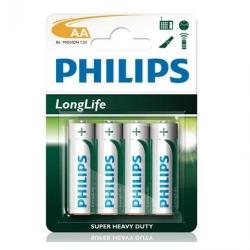 Baterii Philips LongLife, 4x AAA/R03, Blister