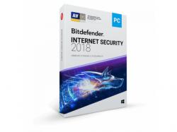 Bitdefender Internet Security 2018, 3 user/1 an, Base Retail