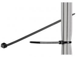Brida (colier) 3.5x200mm, plastic, negru, pentru cabluri de exterior 200-3,5-WR-BU100
