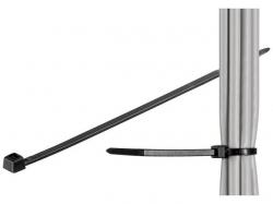 Brida (colier) 4.5x200mm, plastic, negru, pentru cabluri de exterior 200-4,5-WR-BU100