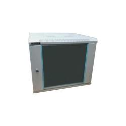 Cabinet Rack DATEUP 4U 600x450, dezasamblat, montare pe perete, usa din sticla, panouri laterale detasabile si securizate, gri RAL7035,  MP.6404.9000