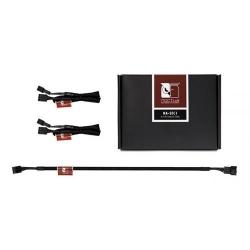 Cablu componente Noctua 3x 4-pin Fan Female - 3x 4-pin Fan Male, 0.3m, negru NA-SEC1