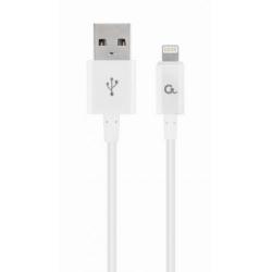 Cablu de date Gembird, USB 2.0 - Lightning, 2m, White