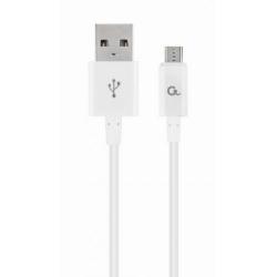 Cablu de date Gembird, USB - micro USB, 1m, White