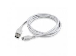 Cablu de date Gembird, USB - microUSB, 1.8m, White  CCP-MUSB2-AMBM-6-W