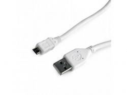 Cablu de date Gembird, USB - microUSB, 3m, White