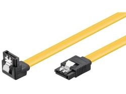 Cablu de date HDD SATA6 L la SATA6 L 90° cu clip, 30cm 90D-C/0,3-BU
