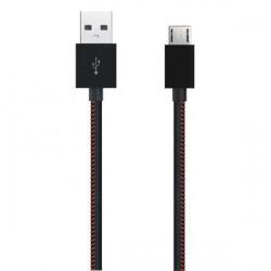 Cablu de date Serioux, USB 2.0 - microUSB, 1m, Black, Bulk
