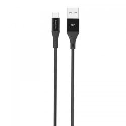 Cablu de date Silicon Power Boost Link LK30AB, USB - MicroUSB, 1m, Black