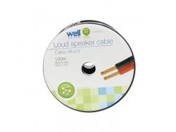 Cablu difuzor rosu/negru cupru 2X1.00, Well ; Cod EAN: 5948636025392, pret pe metru