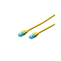 Cablu Digitus Prelium, U/UTP, CAT5, 0.5m, Yellow