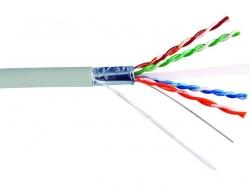 Cablu FTP cat.6 la metru, 8 fire din cupru, 305m, Well pret pe metru.