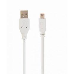 Cablu Gembird, USB - mini USB, 0.9m, White